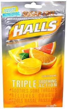 - Halls Mentho-Lyptus Drops Sugar Free Citrus Blend - 25 ct, Pack of 3