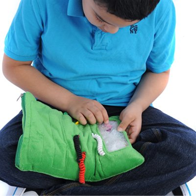 Busy Finger Fidget Lap Pad - Weighted Activity Panels for Tactile Exploration and Sensory Integration - Ideal for Kids and Teens with ADHD and Developmental Disabilities, 9x11 Inches