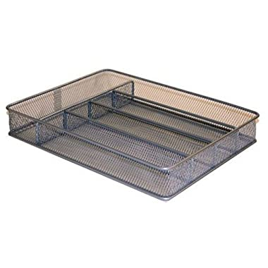 Honey-Can-Do KCH-02154 Steel Mesh 5-Compartment Cutlery Utensil Organizer, Silver