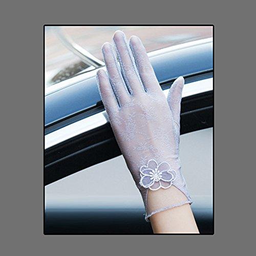 お風呂衣服モーターCoio 女性手袋 レディースUVカット レース 薄手日焼け防止 紫外線カット ブライダル手袋(スタイル3))