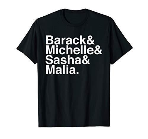 Obama Family Barack & Michelle & Sasha & Malia tee shirt