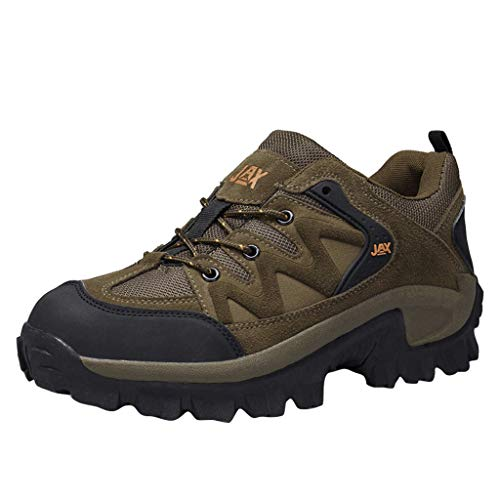 Climbing Shoes,Fheaven Men's Lace up Flats Comfortable Anti-Skid Sneakers Wear-Resistant Shock-Absorbing Hiking Shoes Brown