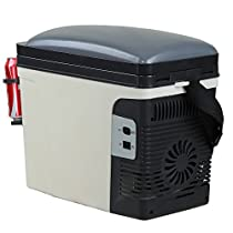 SMAD 12V Vehicle Refrigerator Portable Thermoelectric Camping Cooler,1.3 Gal