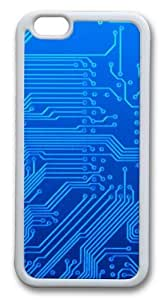 Blue Circuitry13 Custom iphone 6 plus 5.5 inch Case Cover TPU White