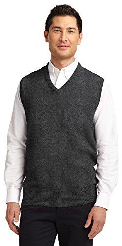Port Authority Men's Value V-Neck Sweater Vest_Charcoal Grey_XXX-Large -
