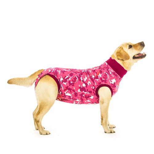 Suitical Recovery Suit for Dogs - Pink Camo - size Medium+ (Plus Suture)