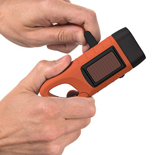 Rechargeable Flashlight with Solar
