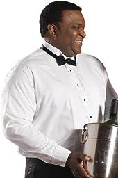 Edwards Garment Men\'s Wing Collar Tuxedo Shirt, WHITE, 5XL 37