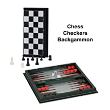 WE Games 3-in-1 Combination Game Set -Travel Size