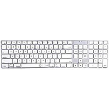 elsra usb wired full size keyboard 110 key numeric keypad mac kb 801 white. Black Bedroom Furniture Sets. Home Design Ideas