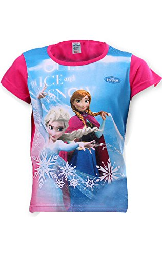 Disney Frozen Elsa Anna Girls Top Tshirt Age 4 to 8 Years
