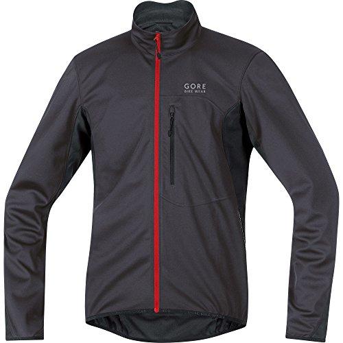 Windstopper Black Jacket (GORE BIKE WEAR Men's Cycling Jacket, Super Light, GORE WINDSTOPPER,  Jacket, Size: M, Brown black, JWELMS)