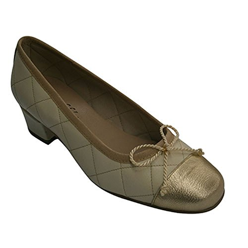 En Chaussure Rembourré Moyen Roldan Type Talon Avec Beig Femme Manoletinas 1814wnSqI