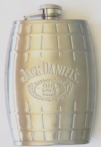 Jack Daniel's Stainless Steel Barrel Flask 6 Oz Silver Color ()