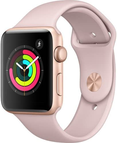 Amazon.com: Apple Watch Series 3 (GPS) 42mm Smartwatch (Gold ...