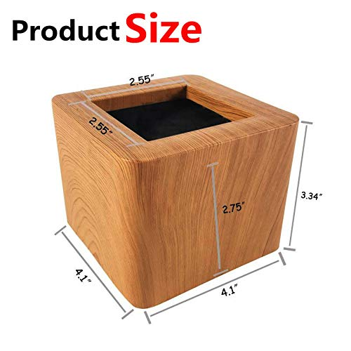 aspeike Bed and Furniture Risers 3 Inch Heavy Duty New Upgrade 4 Pack Bed Lifts - Lifts Up to 6600 LBs Couch, Desk, Table or Chair Risers More Realistic Woody Feel Light Wooden Color