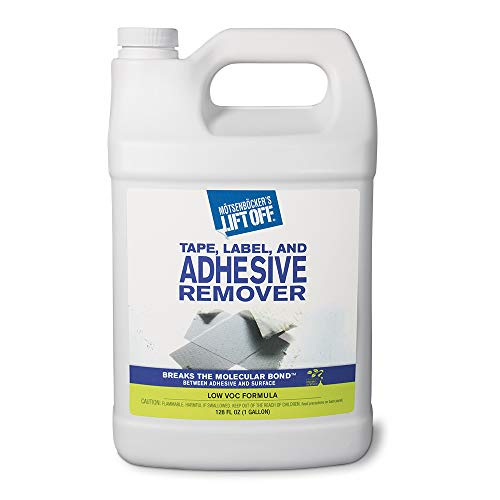 Motsenbocker's Lift Off 40801 Tape, Label, and Adhesive Remover 1-Gallon Bottle-Pack of 1, 128. Fluid_Ounces - Lift Off Stain Remover