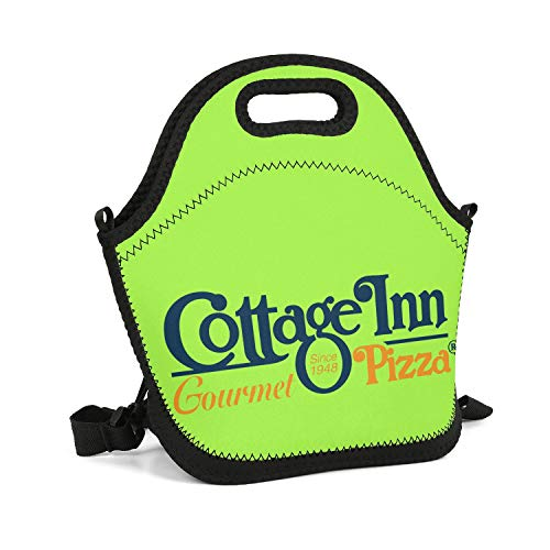 yakamao Lunch Box Cottage Inn Pizza Logo Insulated Neoprene Kids Lunch Bag Lightweight Boys and Girls Outdoor Tote Cooler Warm Pouch