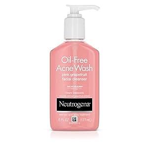 Neutrogena Oil-Free Acne Face Wash With Salicylic Acid, Pink Grapefruit, 6 Fl. Oz. (Pack of 3)