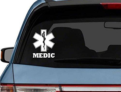 StickerLoaf Brand STAR of LIFE MEDIC car truck Laptop Decal Sticker decals sticker Firefighter medic EMT EMS Rescue Fire Paramedic