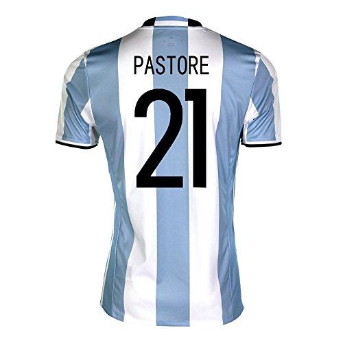 ペイントモデレータ測定adidas Pastore #21 Argentina Home Soccer Jersey Copa America Centenario 2016 YOUTH/サッカーユニフォーム アルゼンチン ホーム用 パストーレ ジュニア向け