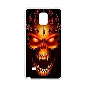 Samsung Galaxy Note 4 Case,Skull & Flame Hard Shell Case for Samsung Galaxy Note 4 White Yearinspace071238