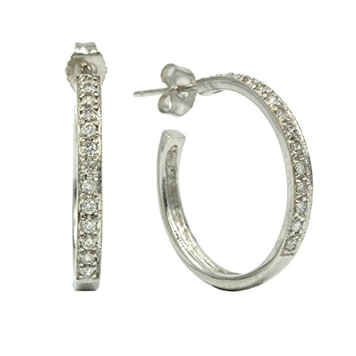 0.56 Ct Tw Diamond (14K White Gold Ladies Earrings (0.56 CT TW Diamonds I Color I2-I3 Clarity))