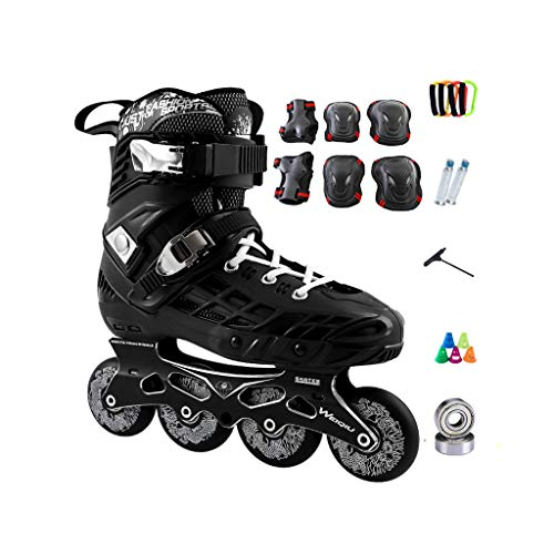 やけどラベンダーベテランailj インラインスケート、スケート、大人の男の子、女の子、ローラースケート、プロのコンビネーション、多機能スケート(2色) (色 : 黒, サイズ さいず : EU 43/US 10/UK 9/JP 26.5cm)