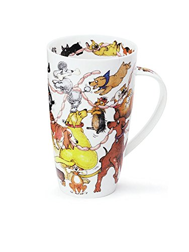 Dunoon Stunning Dogs Frolics Fine Bone China Mug Henley Style - For All Dog Lovers