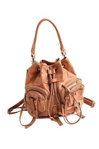Vendange fashion women Multifunction Vintage handmade genuine sheepskin shoulder bag / knapsack2105 by Vendange
