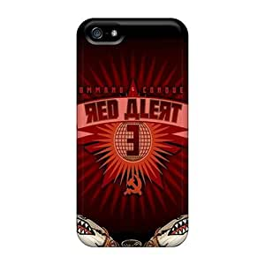 AQrkglx6997iwZcI Cynthaskey Ra Wpblack Red Alertred Alerts Here Durable Iphone 5/5s Tpu Flexible Soft Case