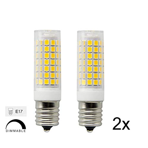 Ceramic E17 LED Bulb for Microwave Oven Appliance, 70W Halogen Bulb Equivalent, Daylight White 6000K, Pack of 2 by Home High Power lamp
