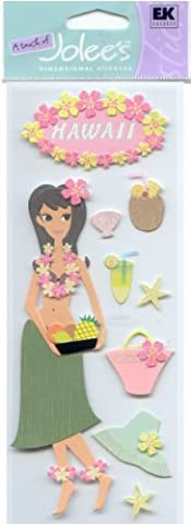 Jolees A Touch Of Jolees Dimensional Stickers, Hawaii - Hawaii Scrapbooking Stickers