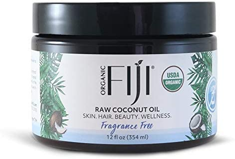 New Organic Fiji Raw Cold Pressed Organic Coconut Oil, Fragrance Free, 12 oz