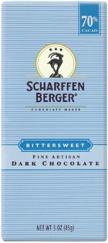 - Scharffen Berger 70% Bittersweet Dark Chocolate Bar, 3-Ounce Bars (Pack of 6)