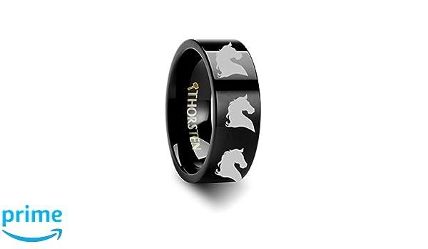 Thundercats Logo Symbol Laser Engraved Tungsten Carbide Ring 8 mm