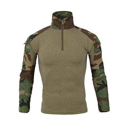 Lanbaosi Tactical Combat Dry Quick Shirt Military Duty Uniform Hunting T-Shirt, Army Green, X-Large