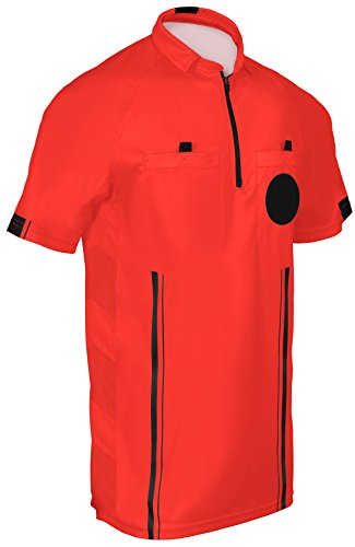 New! 2018 Soccer Referee Jersey (2018 Red, Adult ()