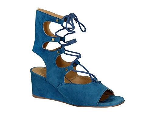 Chloé CH24522717 Bleu Sandales Femme Suède Yq8YxZH