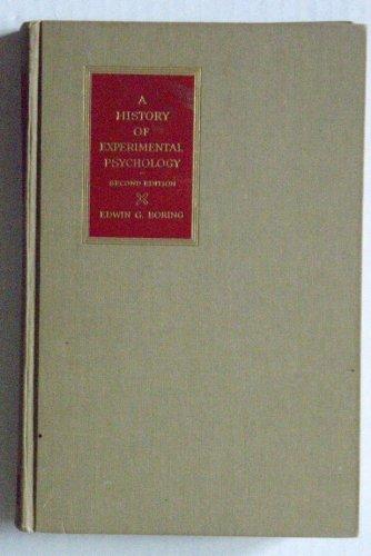 History of Experimental Psychology 2ND Edition -  APPLETON CENTURY CROFTS