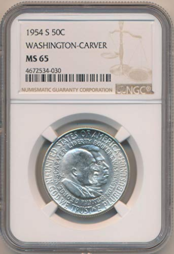 1954 S Half Dollar Washington Carver MS65 NGC ()