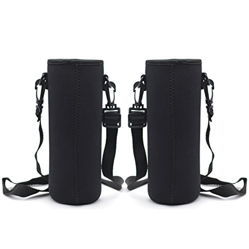 32 Oz Cooler - Kvvdi 2 Pack 32 oz Neoprene Glass Water Bottle Cooler Sleeve Insulator 32oz Bottle Cover Holder Carrier with Shoulder Strap