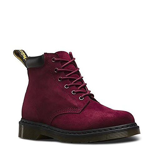Martens Saxon 6 Eye - Dr. Martens Saxon 939 6-Eye Padded Collar Boot,Wine Soft Buck,UK 5 M