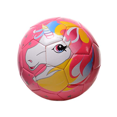 Athlecti Pre Liga Unicorn Girls Pink Soccer Ball with Pump (Sparkle) (Pink Soccer Ball)