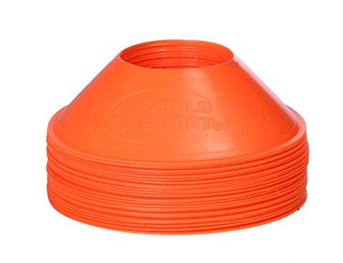 World Sport Mini Disc Cones Neon Orange (25 Pack)