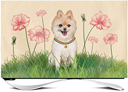 Cubierta Antipolvo De TV Para Interiores De 24-65 Pulgadas, Animales Encantadores Protector De Pantalla De TV Duradero LCD LED TV Cubierta A Prueba De Polvo Tela De TV (Color:Cute dog 1,Size:45inch): Amazon.es: