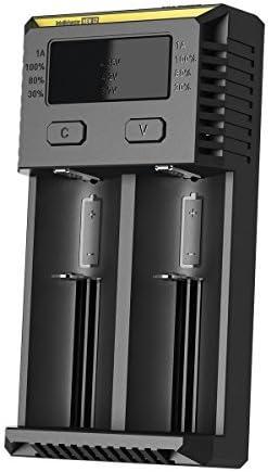 PS Hunters Neu Nitecore i2 Intellicharge Ladeger/ät f/ür 2 Akkus Li-Ionen oder Ni-Mh 2016 Version und Mini Auto Ladekabel
