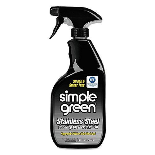 Simple Green 18300CT Stainless Steel One-Step Cleaner & Polish, 32oz Spray Bottle (24 pack) by Simple Green