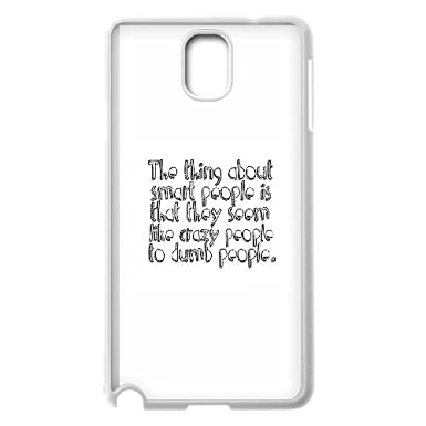 Samsung Galaxy Note 3 Cell Phone Case White quotes smart ...