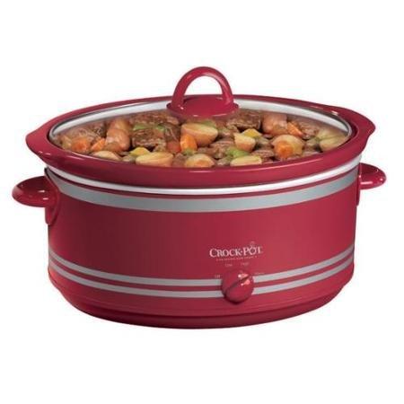 Jarden SCV702-NP 7qt Crock-pot Manual Appl Slow Cooker With Travel Bag Red